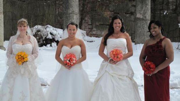 Vier Bräute treten an, im Wettkampf um das schönste Hochzeitsfest: Melissa (2...