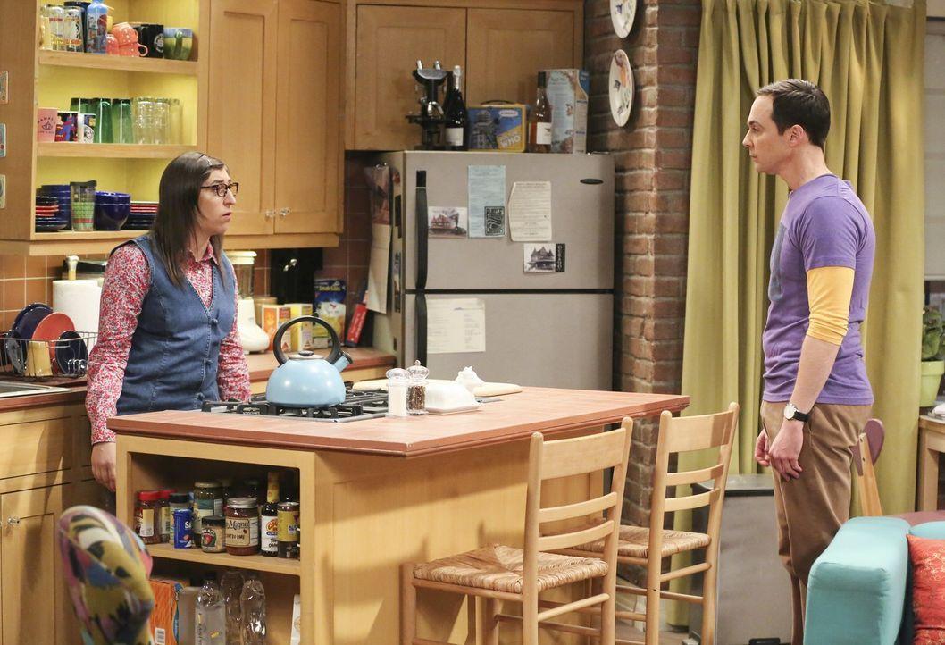 Wird Amy (Mayim Bialik, l.) ein Angebot von Wil Wheaton annehmen und Sheldon (Jim Parsons, r.) damit vor den Kopf stoßen? - Bildquelle: Warner Bros. Television