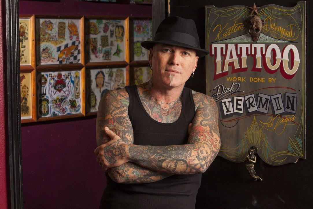 Stößt Dirk dieses Mal an seine Grenzen und erkennt, dass er eben doch nicht alle Tattoos covern kann? - Bildquelle: Richard Knapp 2014 A+E Networks, LLC