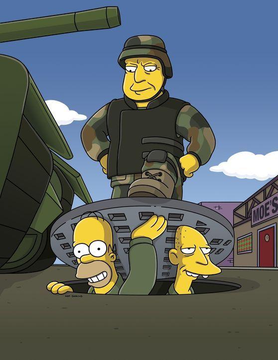 Die US-Army ist aufgrund der lodernden Krisenherde in aller Welt dringend auf der Suche nach neuen Rekruten und versucht ihr Glück in Springfield.... - Bildquelle: 2007FOX BROADCASTING