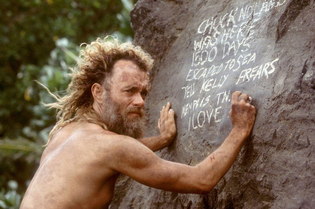 Nach einem Flugzeugabsturz kann sich Chuck (Tom Hanks) als einziger Überlebender auf eine einsame Insel retten. Gefangen im Paradies, kämpft er vi... - Bildquelle: 2001 Twentieth Century Fox Film Corporation and Dreamworks LLC. All rights reserved