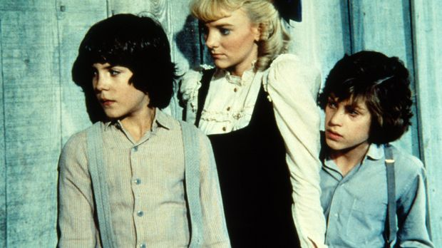 Albert Ingalls (Matthew Laborteaux, l.), Nelly Oleson (Alison Arngrim, M.) un...