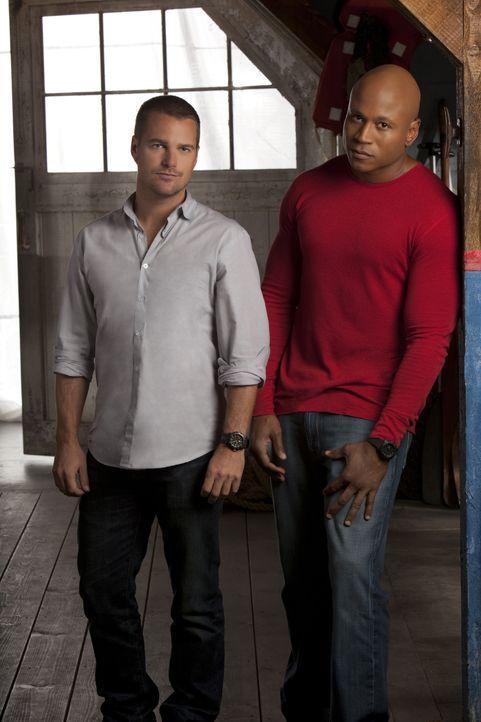 (2. Staffel) - Ermitteln Undercover im sonnigen Kalifornien um die nationale Sicherheit zu wahren: Special Agent G. Callen (Chris O'Donnell, l.) und... - Bildquelle: CBS Studios Inc. All Rights Reserved.