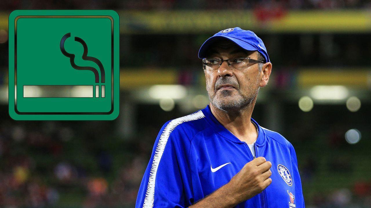 Maurizio Sarri kriegt wohl eigene Raucher-Area an der Stamford Bridge - Bildquelle: imago