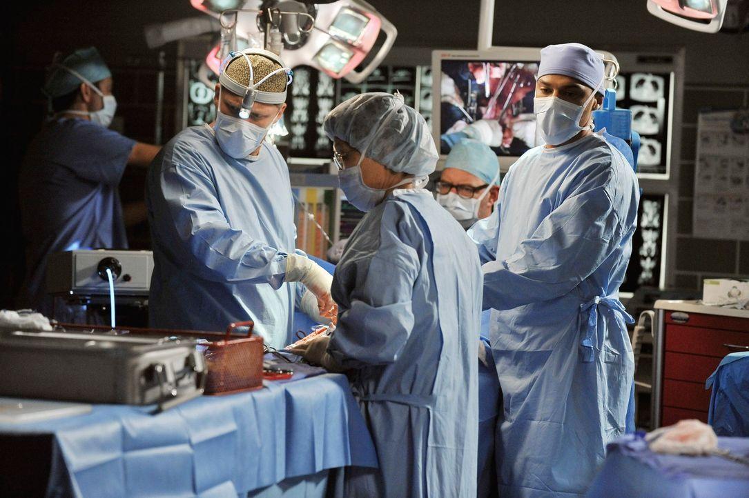 Geben alles um ein Leben zu retten: Owen (Kevin McKidd, 2.v.l.) und Jackson (Jesse Williams, r.) ... - Bildquelle: ABC Studios