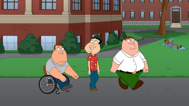 Ein ganz besonderer Abend wartet auf Joe (l.), Peter (r.) und Quagmire (M.) ....