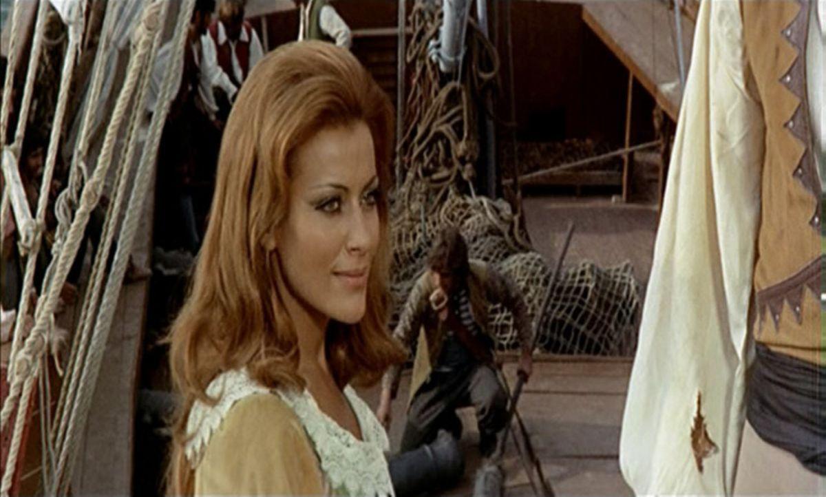 Als Blackys Partner erfahren, dass Isabel (Silvia Monti), die Kapitän Blacky von ihnen ersteigert hat, in Wahrheit die Frau des spanischen Vizekönig... - Bildquelle: ACB Cinematografica und Capricornio Transcontinental Pictures
