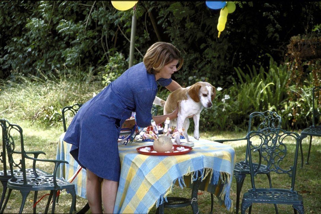 Verena (Birge Schade) ahnt nicht, dass der zugelaufene Beagle ihr Ehemann ist. Sie wähnt ihren verschwundenen Partner in den Händen einer jungen Gel... - Bildquelle: Boris Guderjahn ProSieben