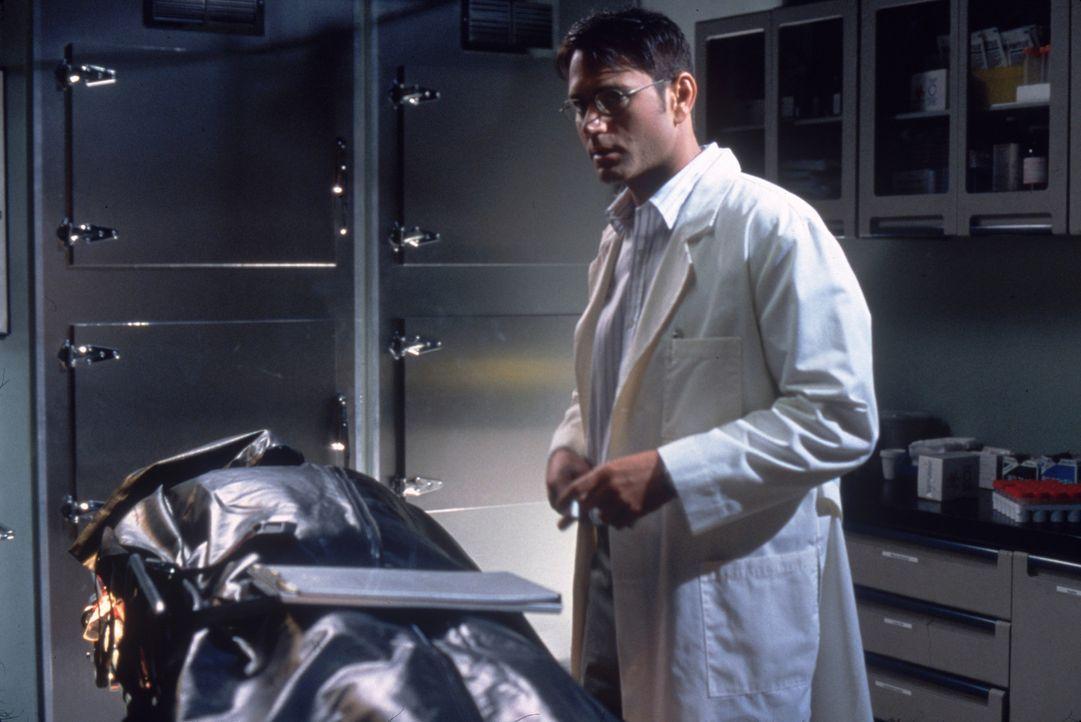 Schon bald ist dem Versicherungsagenten Julian Haynes (Joe Michael Burke) klar, dass Nyles Dunlap einem perfiden Mordkomplott zum Opfer fiel ... - Bildquelle: Columbia Pictures