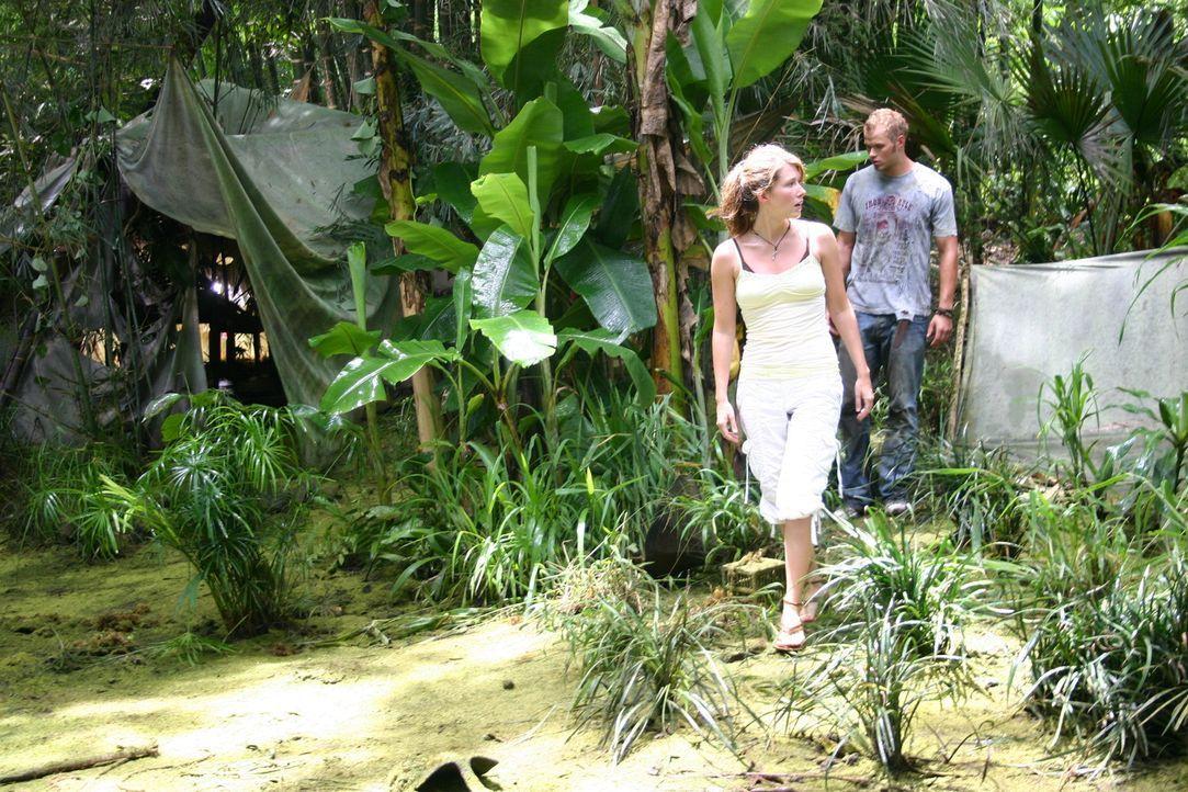 Liz (Jewel Staite, l.), ihr Verlobter und ihre Freunde (Kellan Lutz, r.) stechen mit einer Luxus-Yacht in See, um einen fantastischen Urlaub zu erle... - Bildquelle: Voltage Pictures