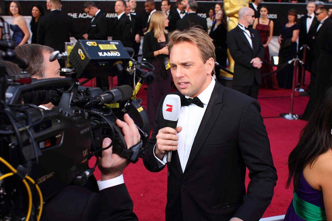 Auch in diesem Jahr wird Steven Gätjen wieder am roten Teppich stehen ... (Fotos sind von der Verleihung 2012) - Bildquelle: Martin Ehleben ProSieben