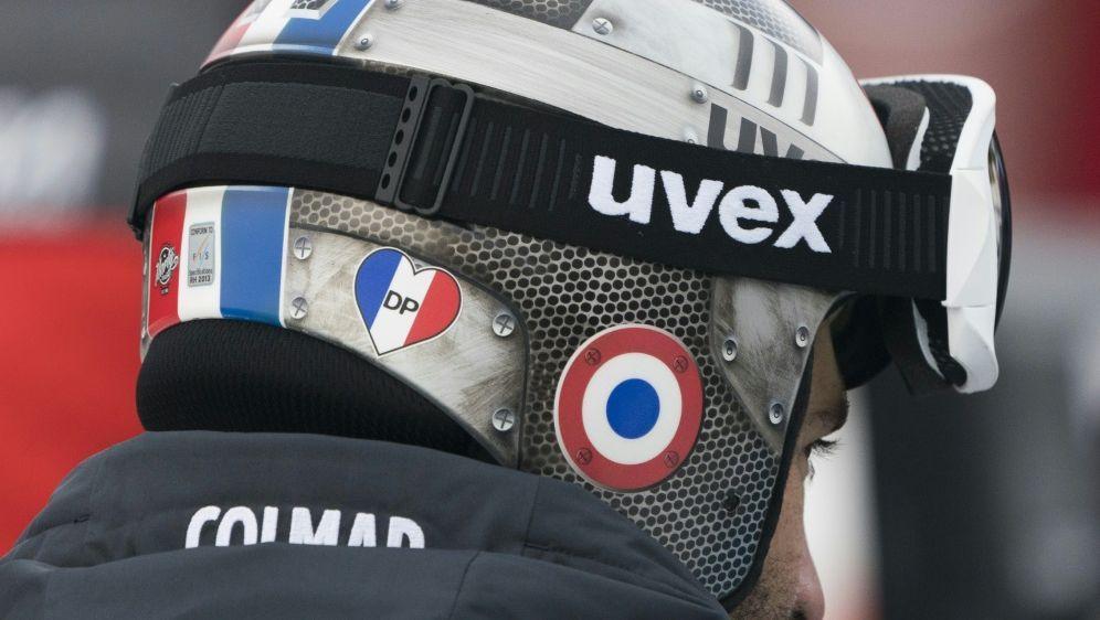 Französische Abfahrer mussten Poisson-Sticker entfernen - Bildquelle: AFPSIDDON EMMERT