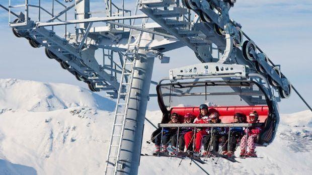 Das Skigebiet Madrisa bei Klosters