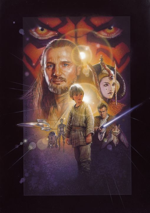 """Möge die Macht mit euch sein"" : Qui-Gon Jinn (Liam Neeson, l.), Obi-Wan Kenobi (Ewan McGregor, r.), Königin Amidala (Natalie Portman, r.) und der... - Bildquelle: 1999 Lucasfilm Ltd. & TM All rights reserved Used with permission"