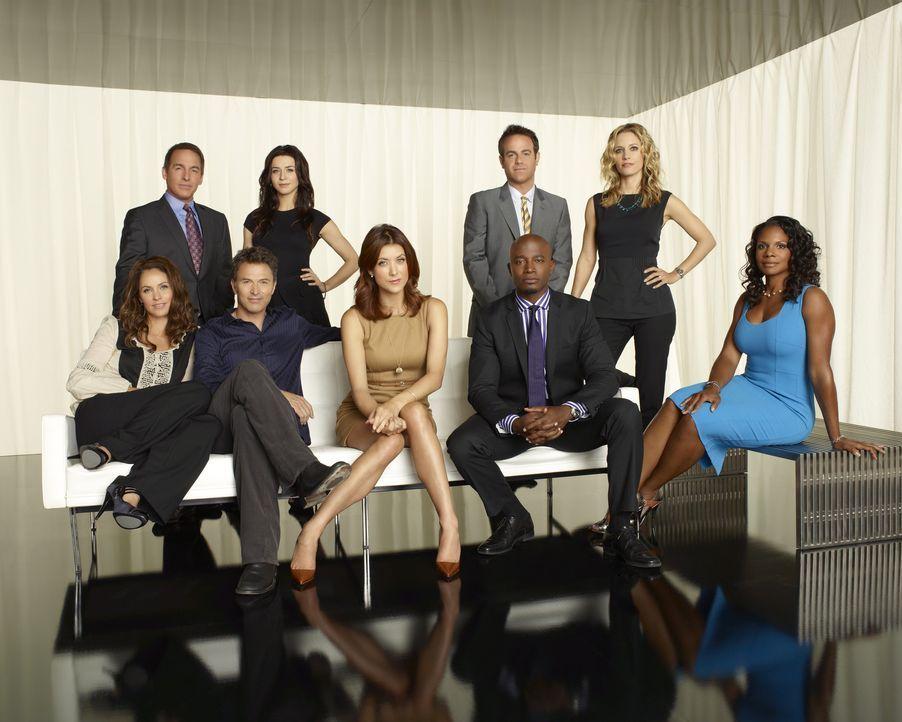 (4. Staffel) - Ein ständiges Auf und Ab beherrscht ihr Leben: (hinten v.l.n.r.) Sheldon (Brian Benben), Amelia (Caterina Scorsone), Cooper (Paul Ade... - Bildquelle: ABC Studios