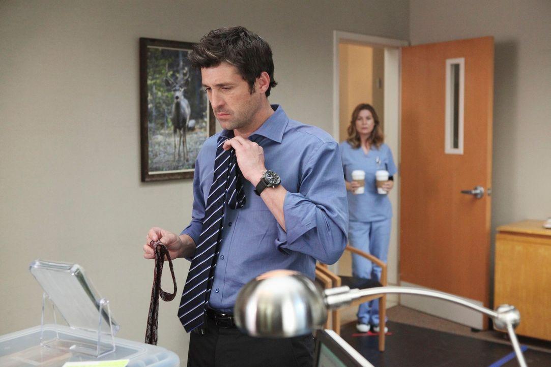 Derek (Patrick Dempsey, l.) übernimmt vorübergehend den Posten als Chief und wird gleich an seinem ersten Tag mit einem Riesenproblem konfrontiert,... - Bildquelle: Touchstone Television