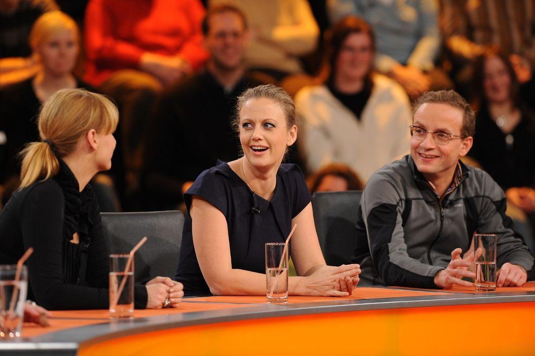 Heute mit im Ratepanel: (v.l.n.r.) Kim Fisher, Barbara Schöneberger, Wigald Boning ... - Bildquelle: Sat.1
