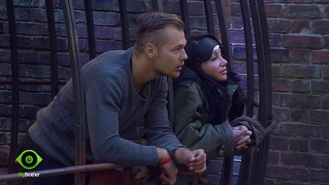 Lusy und Christian im Strafbereich  - Bildquelle: sixx