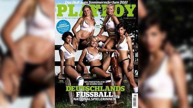 Viele deutsche Fußballspielerinnen haben sich schon für den Playboy ausgezogen.