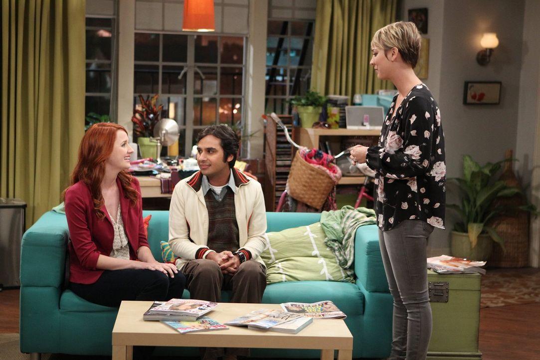 Stehen vor einem Problem, denn Emily (Laura Spencer, l.) kann Penny (Kaley Cuoco, r.) nicht mehr leiden, als sie herausgefunden hat, dass sie mit Ra... - Bildquelle: Warner Brothers