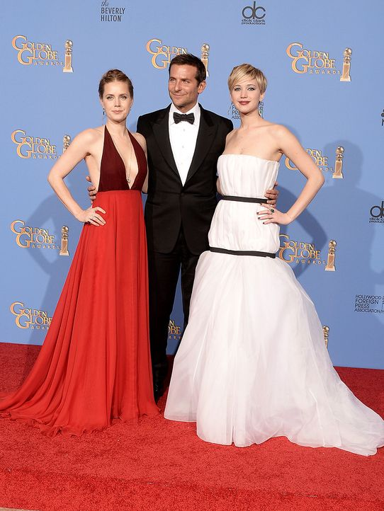Golden-Globe-Amy-Adams-Bradley-Cooper-Jennifer-Lawrence-14-01-12-getty-AFP - Bildquelle: getty-AFP