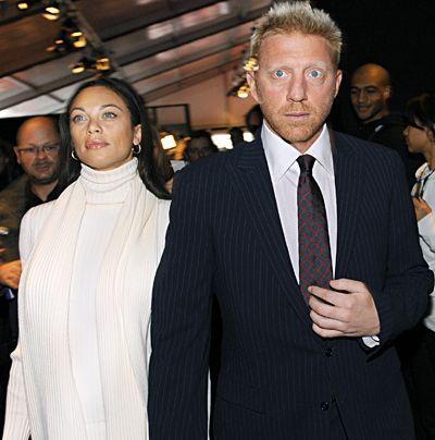 Ex-Tennisstar Boris Becker und seine neue alte Freundin Lilly Kerssenberg im Januar 2009 bei der Fashion Week in Berlin.  - Bildquelle: dpa