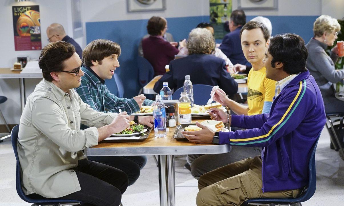 """Der Valentinstag steht bevor und die Jungs haben alle ganz spezielle Pläne: Sheldon (Jim Parsons, 2.v.r.) plant eine Spezialausgabe von """"Fun with Fl... - Bildquelle: 2015 Warner Brothers"""