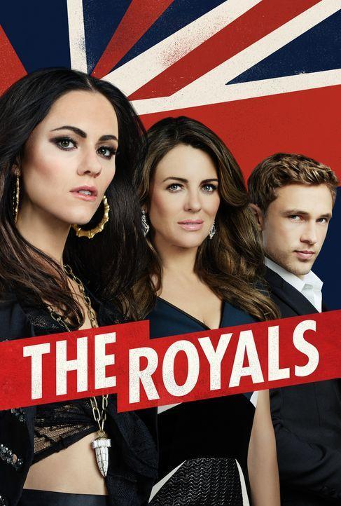(2. Staffel) - The Royals: Helena (Elizabeth Hurley, M.), Liam (William Moseley, l.) und Eleanor (Alexandra Park, r.) ... - Bildquelle: 2015 E! Entertainment Media LLC/Lions Gate Television Inc.
