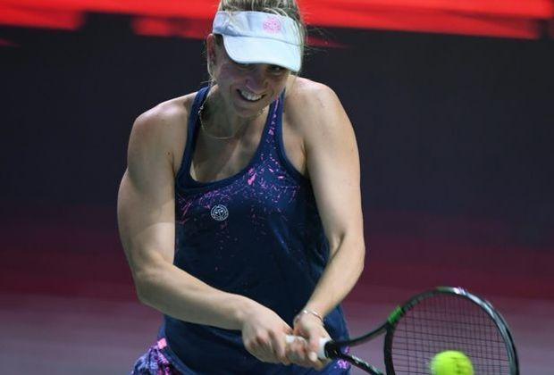 Im Viertelfinale: Mona Barthel beim Turnier in Lugano