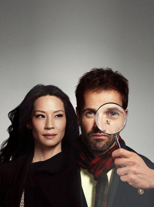 (3. Staffel) - Lösen Kriminalfälle auf höchst eigenwillige Weise: Joan Watson (Lucy Liu, l.) und Sherlock Holmes (Jonny Lee Miller, r.) ... - Bildquelle: CBS Television