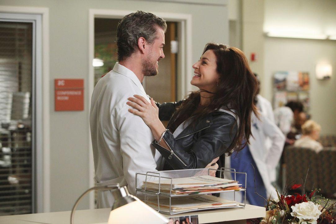 Im Gegensatz zu Derek freut sich Mark (Eric Dane, l.) auf ein Wiedersehen mit Amelia (Caterina Scorsone, r.) ... - Bildquelle: ABC Studios