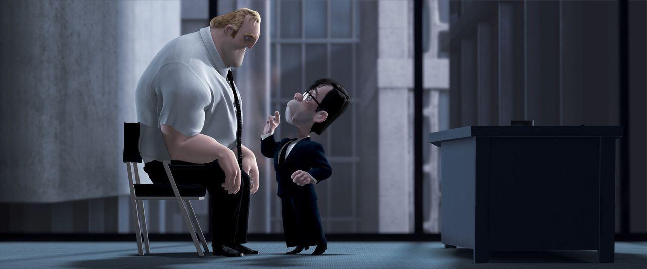 Die Menschenfreundlichkeit von Bob (l.) ist seinem Chef Gilbert Huph (r.) zuwider, denn ihm geht es schließlich nur um Profit ... - Bildquelle: Disney/Pixar. All rights reserved