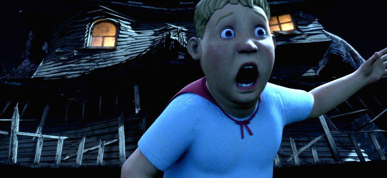 Wer dem Monsterhaus zu nahe kommt, muss um sein Leben rennen! Diese Erfahrung muss auch Chowder machen ? - Bildquelle: Sony Pictures Television International. All Rights Reserved.