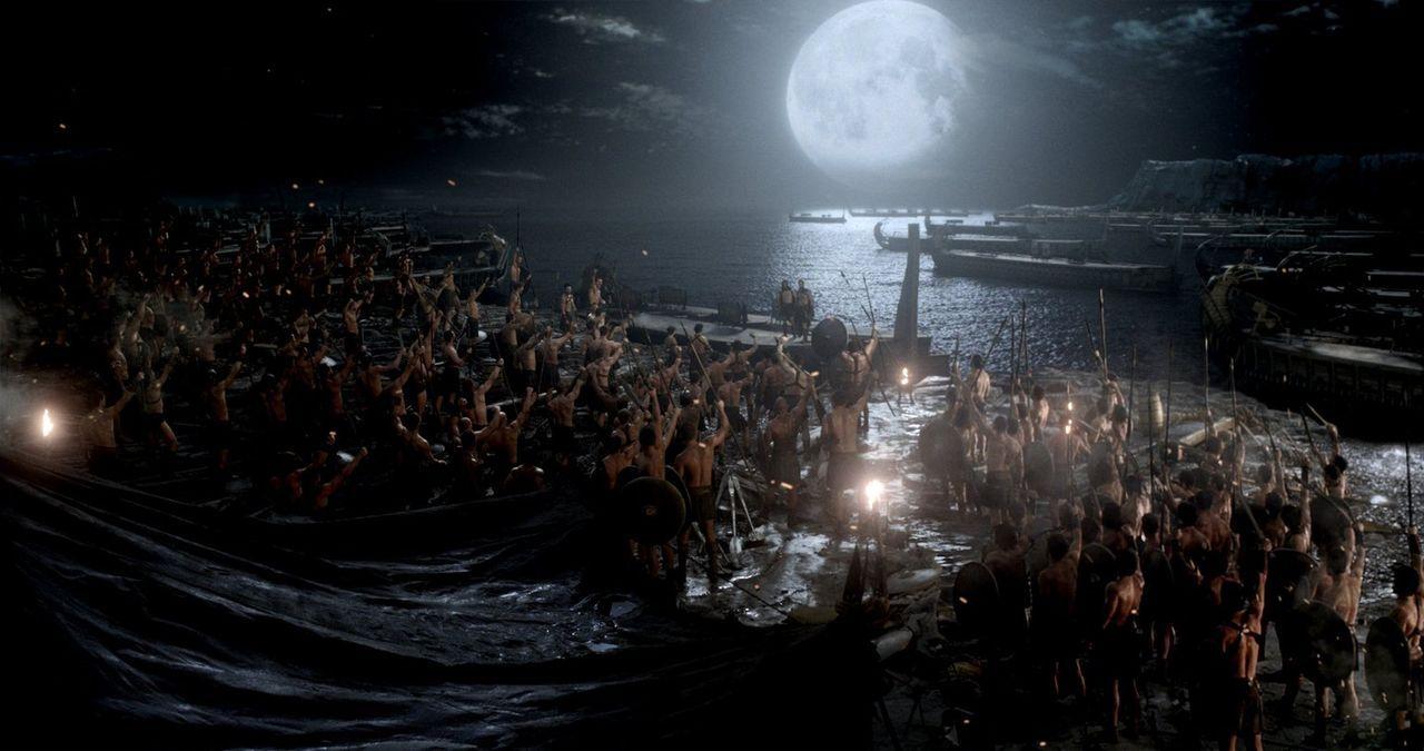 In der Schlacht Griechen gegen Perser fallen auf beiden Seiten zahlreiche Soldaten, doch wer wird am Ende siegreich aus dem Krieg hervortreten? - Bildquelle: 2014 Warner Bros. Entertainment, Inc.