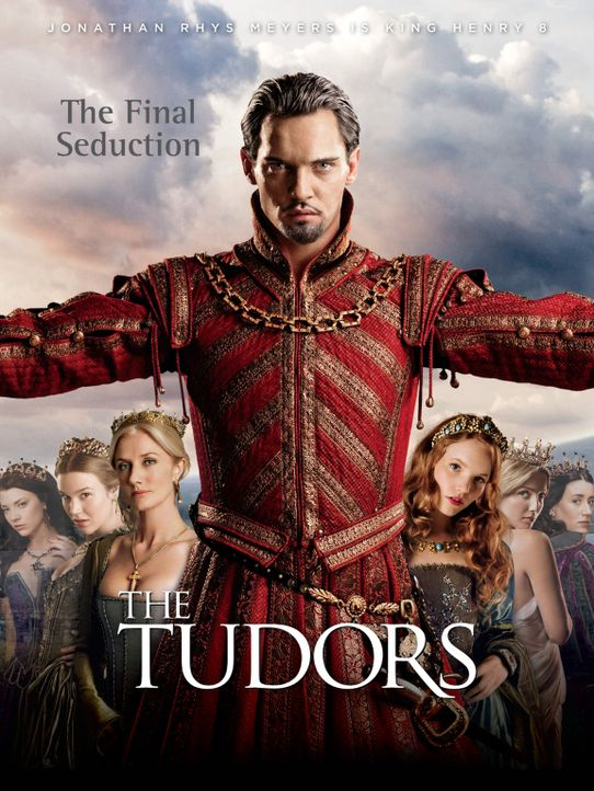(4. Staffel) - König Henry VIII. von England (Jonathan Rhys Meyers, M.) und die Frauen in seinem Leben: Königin Katharina von Aragon (Maria Doyle... - Bildquelle: 2010 TM Productions Limited/PA Tudors Inc. An Ireland-Canada Co-Production. All Rights Reserved.