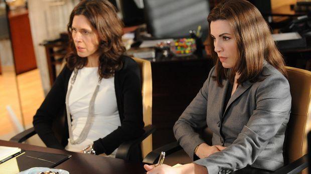 Carla (Jessica Hecht, l.), die Frau von Peters Widersacher, lässt sich von Al...