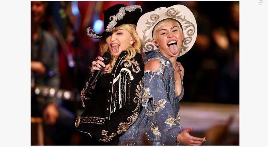 Miley-Cyrus-Madonna-www-facebook-com-Miley-Cyrus - Bildquelle: www.facebook.com / Miley Cyrus