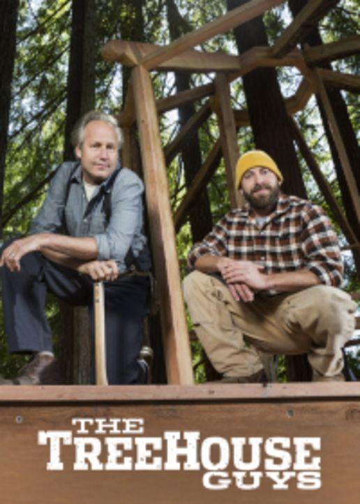 """Für die Treehouse Guys James """"B'fer"""" Roth (l.) und Chris """"Ka-V"""" Haake (r.) ist kein Projekt zu kompliziert ... - Bildquelle: 2015, DIY Network/Scripps Networks, LLC. All Rights Reserved."""