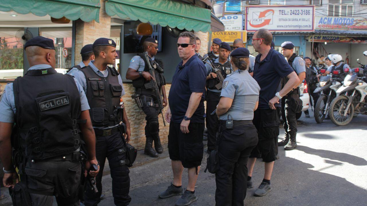 Streife in den Favelas