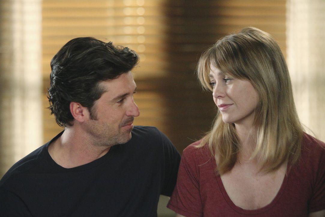 Während sich Derek (Patrick Dempsey, l.) und Meredith (Ellen Pompeo, r.) unbedingt ein Baby wünschen, stehen Callie, Arizona und Mark vor einer ko... - Bildquelle: ABC Studios