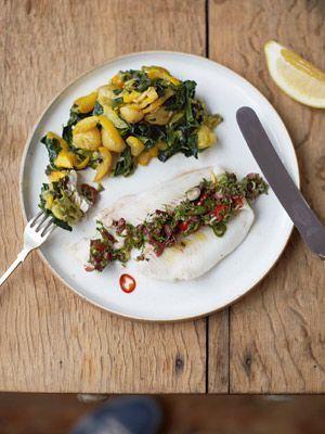 Jamies Super Food: Rotzunge mit Olivensalsa - Rezeptbild