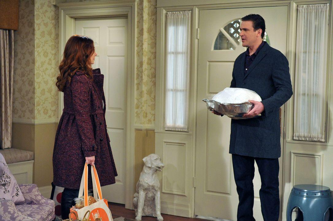 Lily (Alyson Hannigan, l.) und Marshall (Jason Segel, r.) schließen nicht aus nach Long Island umzuziehen, während Barney und Ted planen gemeinsam... - Bildquelle: 20th Century Fox International Television