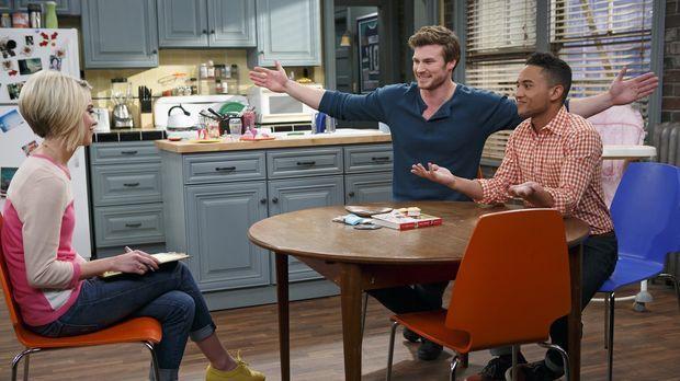 Ben verpflichtet Riley (Chelsea Kane, l.) dazu, einen Paten für Emma auszuwäh...