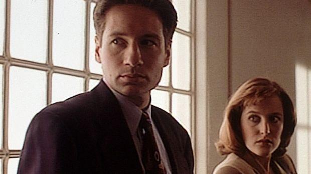 Fassungslos müssen Mulder (David Duchovny, l.) und Scully (Gillian Anderson,...