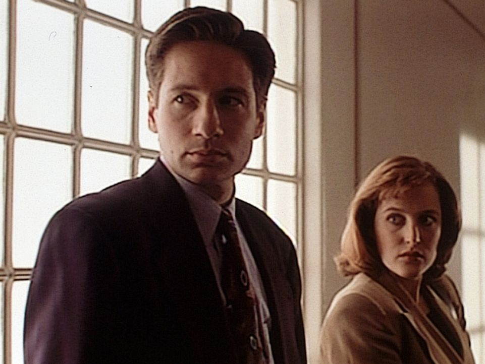 Fassungslos müssen Mulder (David Duchovny, l.) und Scully (Gillian Anderson, r.) miterleben, wie der Mutantenmörder Tooms von einem Gericht auf Be... - Bildquelle: TM +   2000 Twentieth Century Fox Film Corporation. All Rights Reserved.