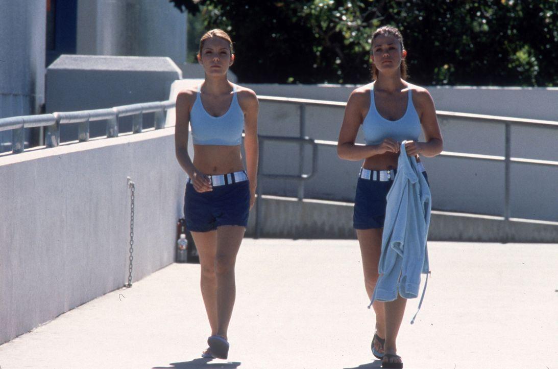Seit Jahren sind die beiden Studentinnen Shannon (Katie Stuart, l.) und Brittney (Susan Ward, r.) befreundet. Als Brittneys Stiefvater tödlich verun... - Bildquelle: Columbia Pictures