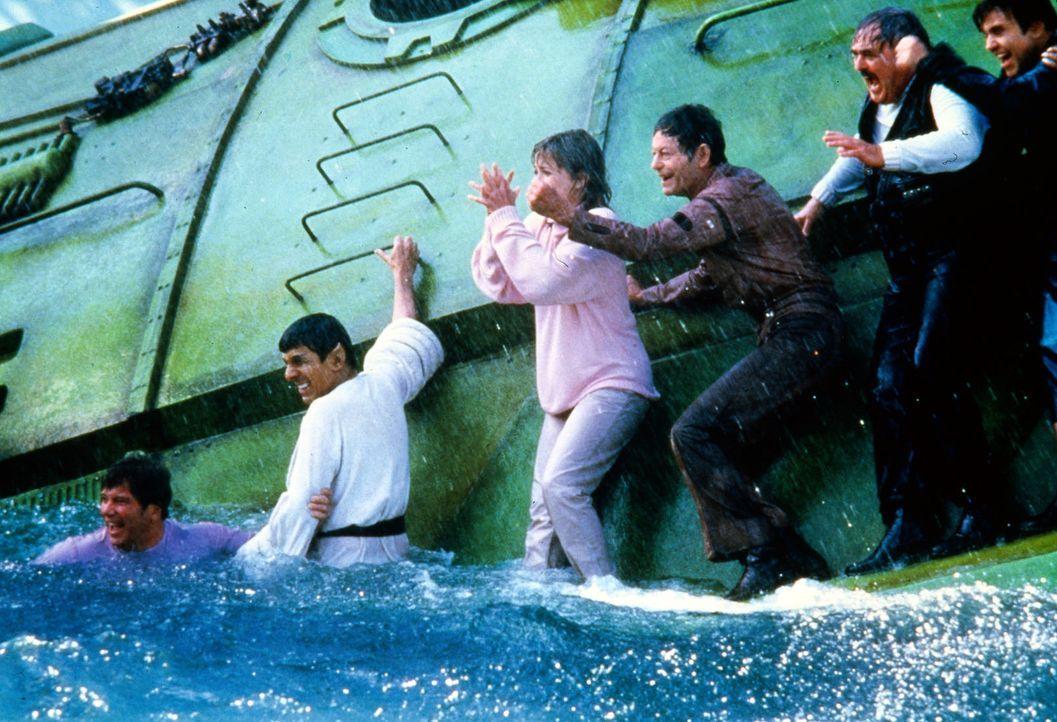 Endlich hat die Crew der Enterprise ein Buckelwalpärchen gefunden. Sie muss es vor einem Walfänger schützen ... - Bildquelle: Paramount Pictures