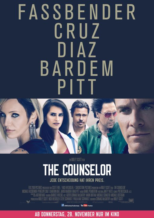 Poster The Counselor - Bildquelle: 20th Century Fox