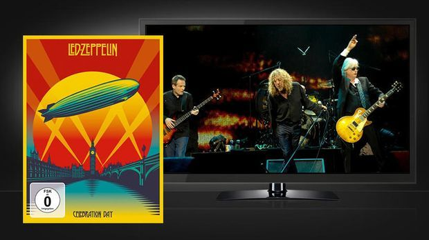 Led Zeppelin: Celebration Day - Szenenbild und Blu-ray Cover