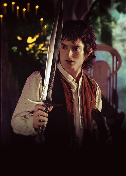 Frodo (Elijah Wood) wird bei einem Angriff schwer verletzt. Er gelangt jedoch noch rechtzeitig ins Bruchtal, wo ihn Hilfe erwartet ... - Bildquelle: Warner Brothers